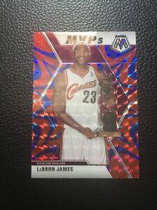 Lebron James 2019-20 Panini Prizm Mosaic NBA MVP Reactive Blue RARE Cavs Lakers