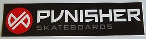 PUNISHER-Skateboards-Sticker-approx-8-034-x-2-034-NEW