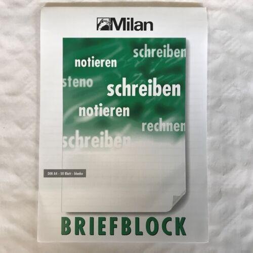 MILAN 1-10 Blöcke Briefblock DIN A4 Blanko Ungelocht Block ohne Rand 50 BLATT