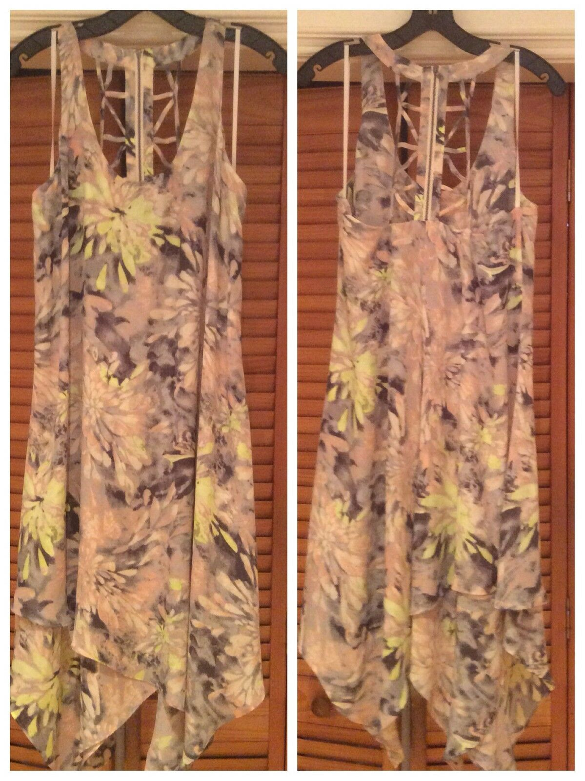 NEW BCBG MAXAZRIA CLARISSA MULTI Farbe SLEEVELESS DRESS Größe 10  PS66D93