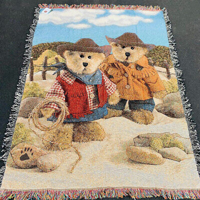 Boyds Bears Flutterlee Family ~ Butterfly Tapestry Afghan Throw