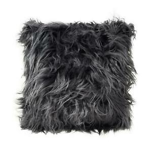 Supersoft-Mongolian-Faux-Fur-Suede-Charcoal-Black-Fluffy-Filled-Cushion-17-034