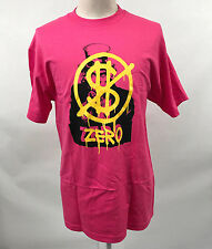 Zero Skateboards Men's T-Shirt Hard Luck Bailout Hot Pink Size L NEW Uncle Sam