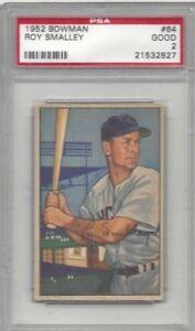 1952-Bowman-baseball-card-64-Roy-Smalley-Chicago-Cubs-graded-PSA-2