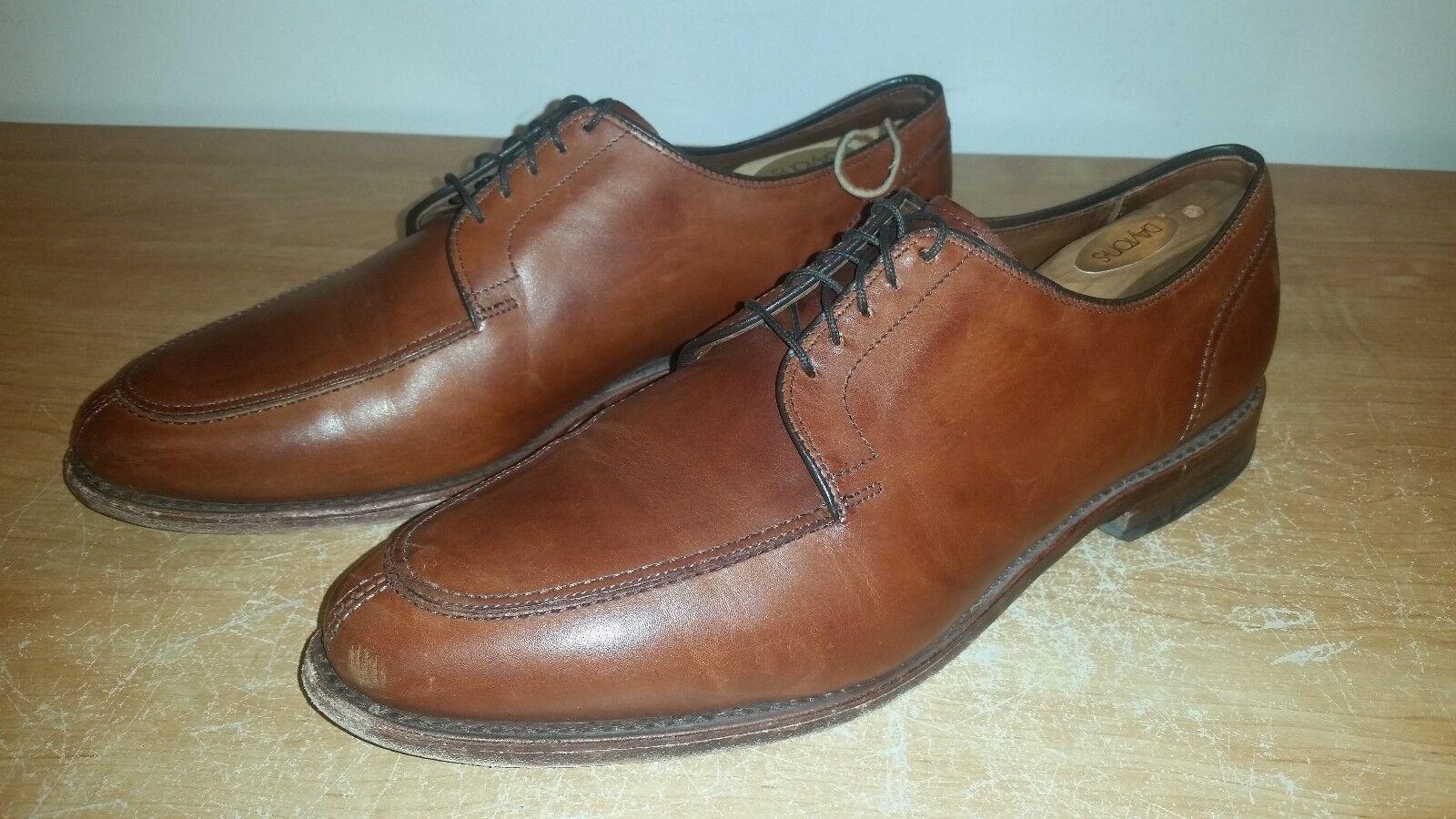 Chili Brown Calfskin ALLEN EDMONDS LaSalle Split Toe Blutcher Dress Shoes Sz-11D Scarpe classiche da uomo