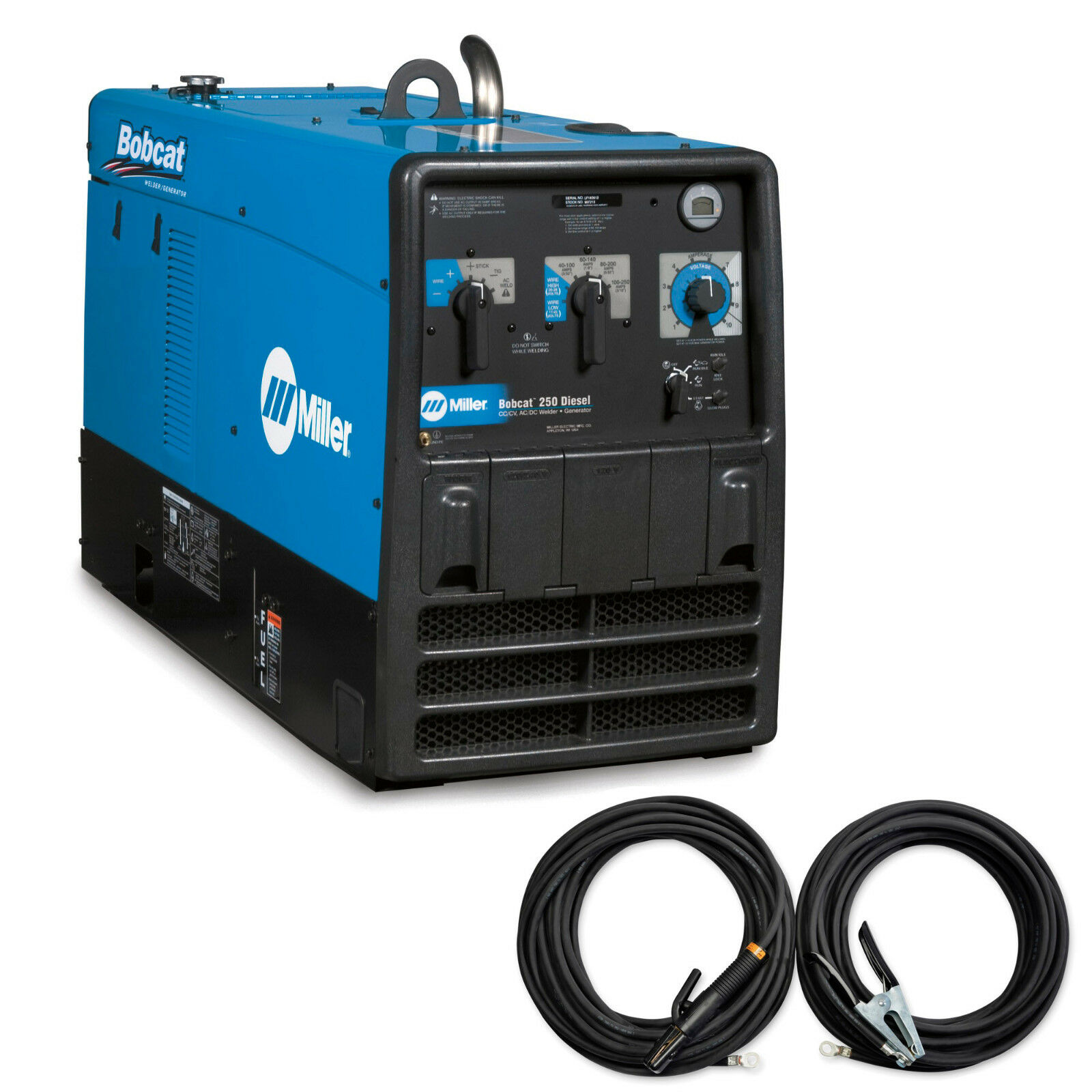Miller 907565 Bobcat 250 Diesel Welder Generator With Gfci Ebay Also 220 Volt To Adapter On Cord Wiring Stock Photo