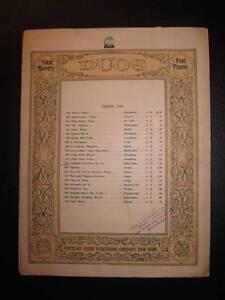 Comedy-Overture-Sheet-Music-Vintage-1908-Lustspiel-Keler-Bela-Op-73-Piano-O