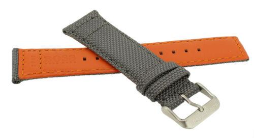 Hugo Boss Orange Ersatzband grau Materialmix Dornschließe silbern Logo 1513379