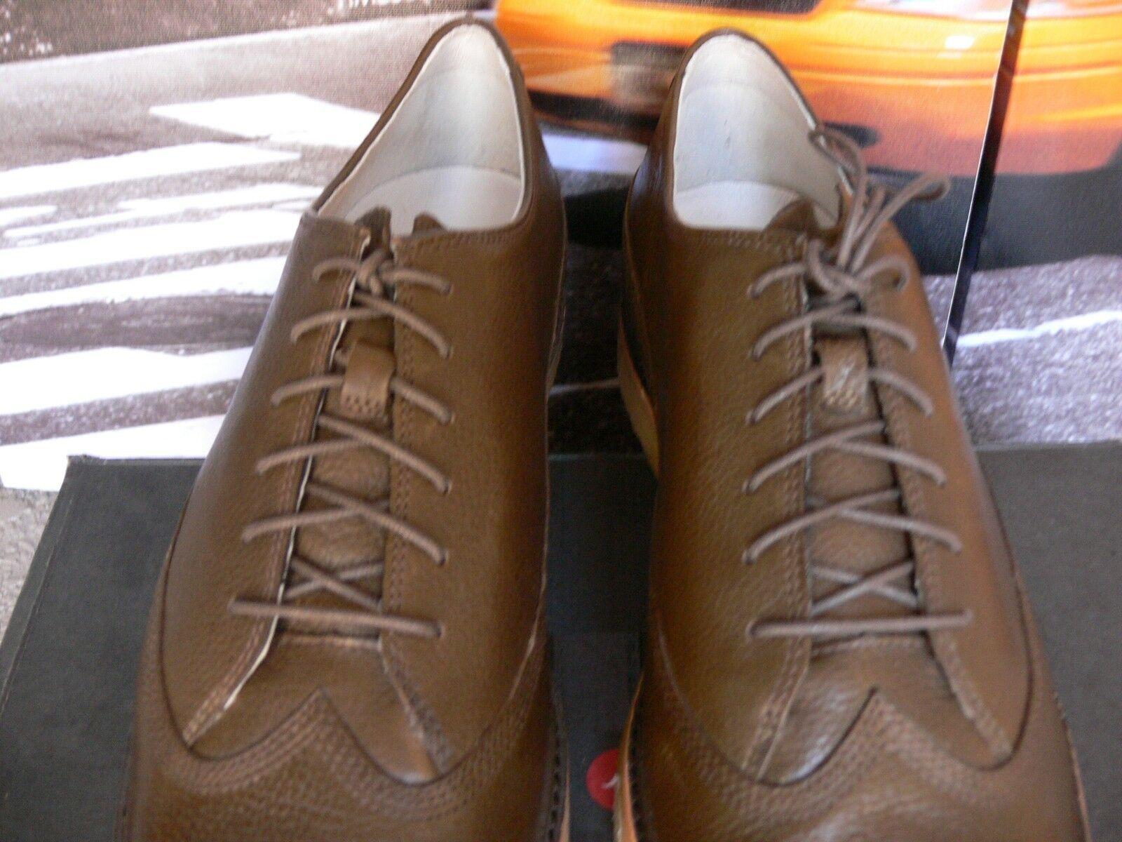 NEW Tsubo Hesperia Hesperia Hesperia  wingtip Marronee   Olive  Leather 8187 crepe sole US 9 So Nice 8b473e
