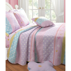 Details about beautiful charming pink soft reversible comforter quilt