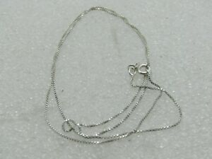 Sterling-Silver-Box-Chain-Necklace-19-034-08mm-Wide-FAS-Italy