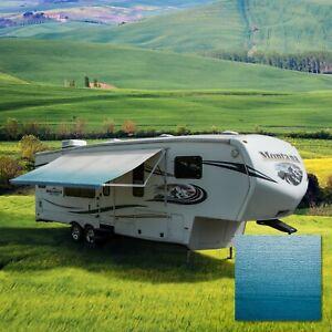 RV Awning Fabric 20 Feet Width Blue Pop Up Camper Canopy ...
