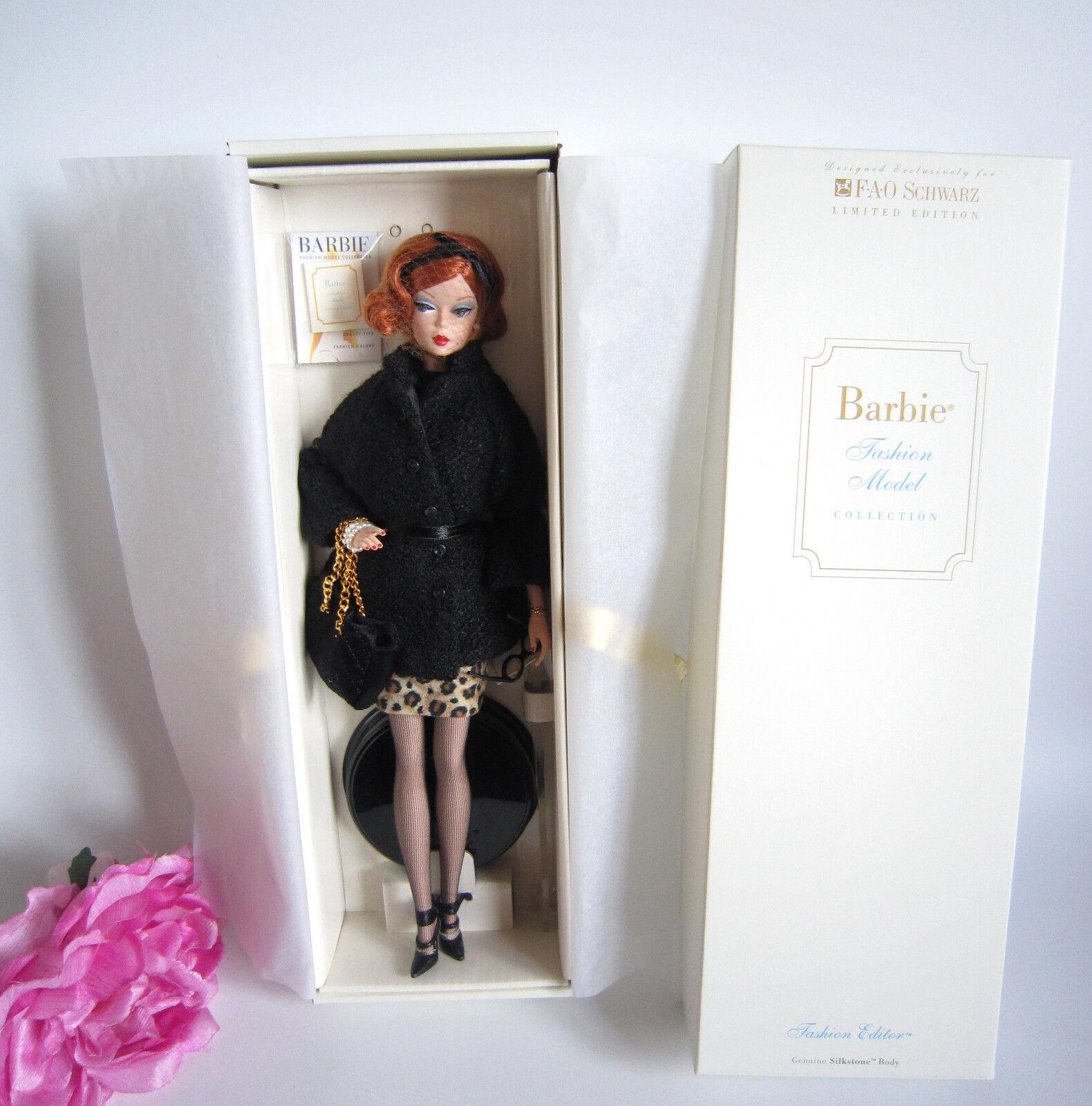 SILKSTONE Barbie  moda Editor  FAO nero, moda modellolololo  col. lim. ed. mai tolto dtuttia scatola.  negozio online