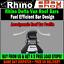 Alto Techo 2x Rhino Delta Barras Portaequipajes van guardias DE CARGA FIAT DUCATO 1995-2006