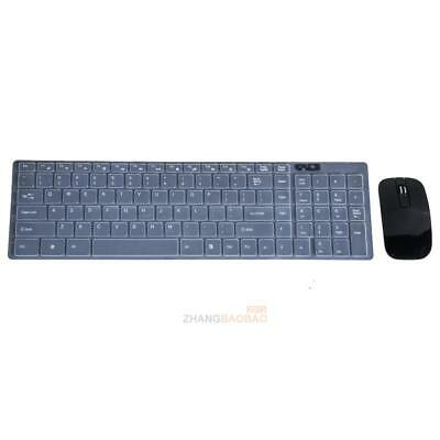 Black 2.4G Optical Wireless Keyboard and Mouse USB Receiver Kit for PC ZH2A