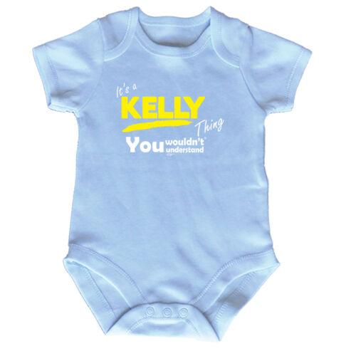 FUNNY BABY Infants Babygrow ange combinaison-Kelly V1 son un nom chose