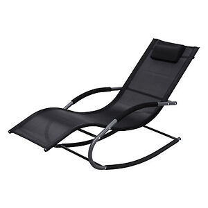 outdoor patio rocking lounger chaise pool lounge chair. Black Bedroom Furniture Sets. Home Design Ideas