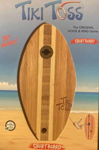 100 Bamboo Party Indoor Outdoor for sale online Tiki Toss Hook Ring Game Short Board Edition