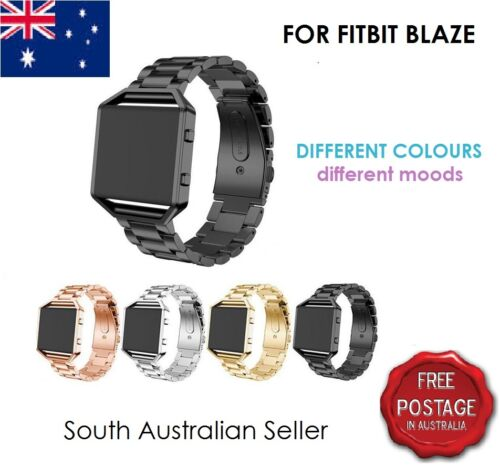 For FITBIT BLAZE Stainless Steel Wrist Strap Band & Frame FITBIT BLAZE SA SELLER