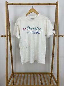 VTG-90s-Reebok-This-Ain-039-t-No-Dance-Class-No-Money-No-Limits-T-Shirt-Size-M-USA