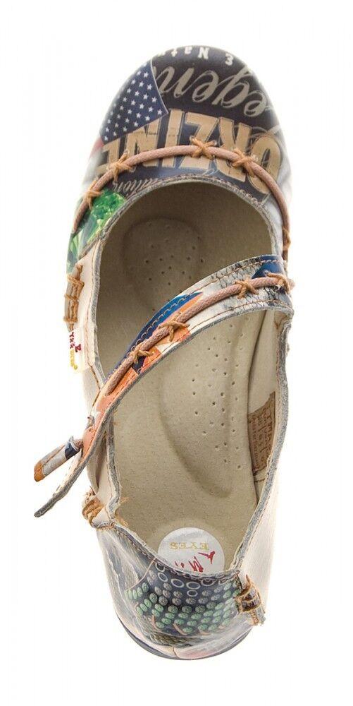 TMA Leder Damen Ballerinas Echtleder Comfort Comfort Echtleder Schuhe 5085 Sandalen bunt G 36 - 42 a15858