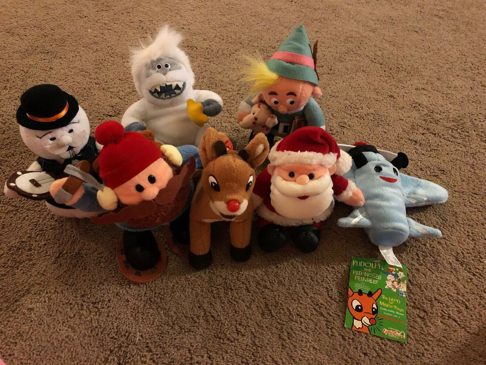 CVS Rudolph The rot Nosed Reindeer Island Of Misfit Spielzeug Plush Masse Of 7 One NWT