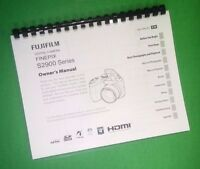 Laser Printed Fujifilm S2900 Finepix Camera 144 Page Owners Manual Guide