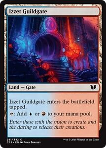 4x-Gate-of-Guild-Izzet-Guildgate-MTG-MAGIC-C15-Commander-2015-Eng-Ita