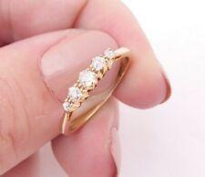9ct gold Victorian five stone old cut diamond ring, 9k 375