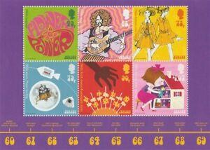 Jersey-2018-1960-039-s-Popular-Culture-Feuille-MNH