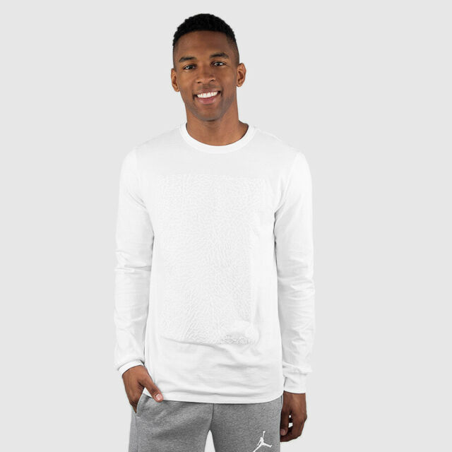 dcaee2d1a9255e Nike Air Jordan Long Sleeve Retro 3 Elephant Print White T-shirt ...