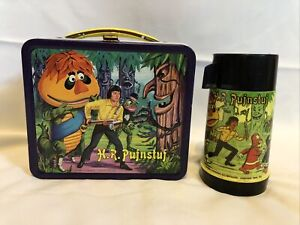 Vintage-H-R-Pufnstuf-Metal-Authentic-1970-Lunchbox-with-Thermos