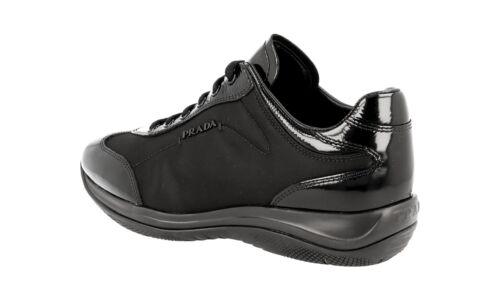 5 39 Shoes Luxury New 39 3e5793 6 New Black Prada Sneaker Uk 0EEqwzp