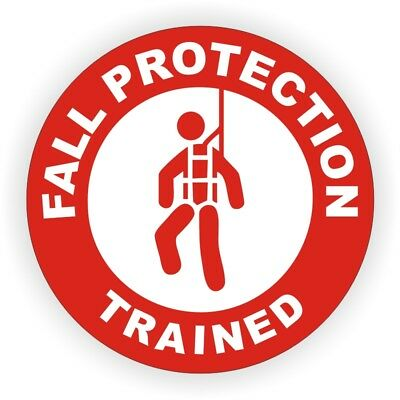 2inch Fall Protection Trained Hard Hat Sticker | Safety Helmet Decal Harness Exquise (On) Vakmanschap