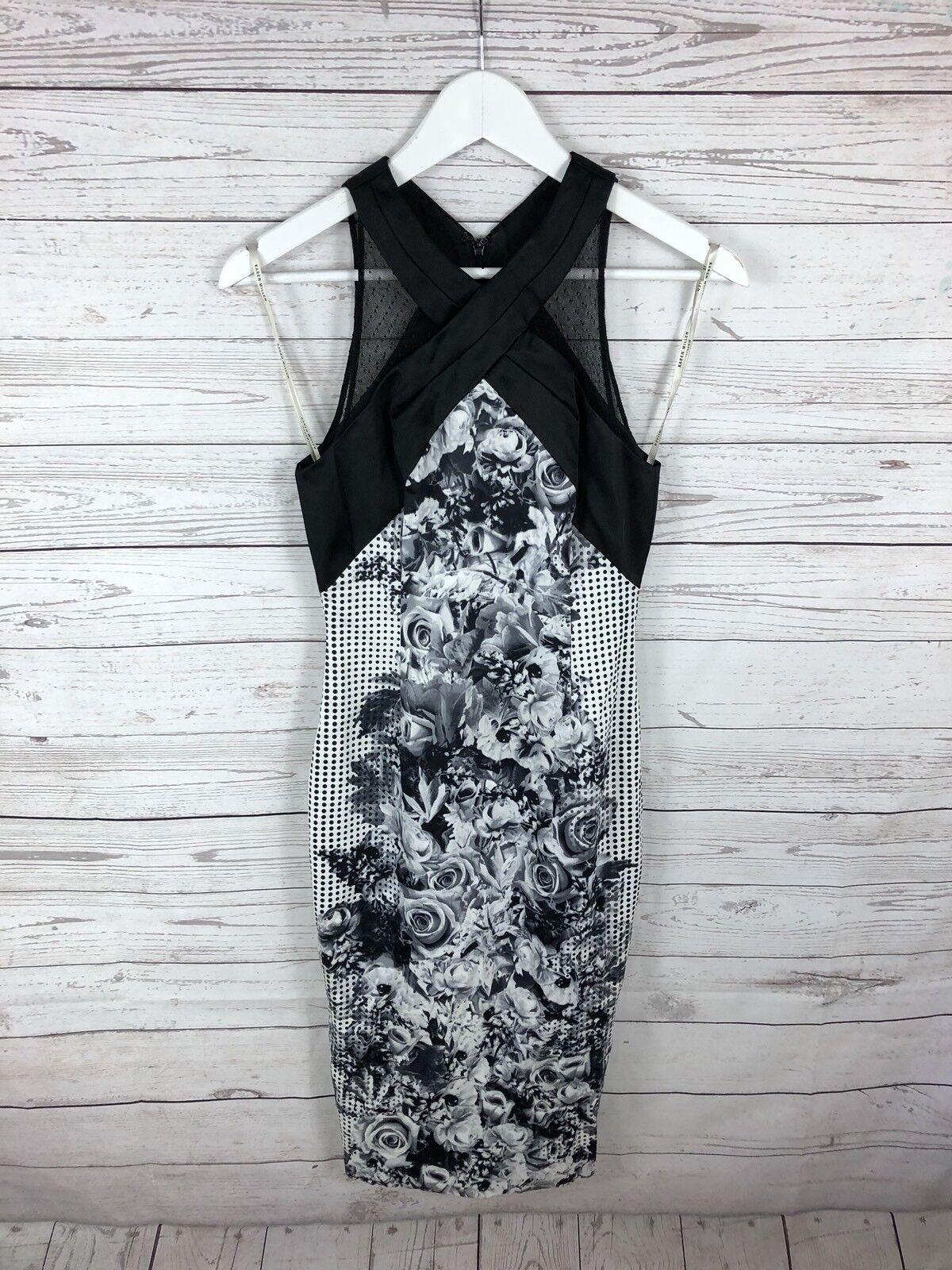 KAREN MILLEN Party Dress - Größe UK8 - Spotty - Great Condition - damen's