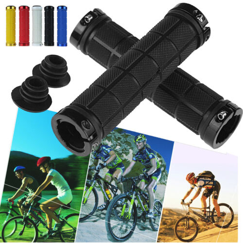 Details about  /DOUBLE LOCK ON LOCKING MTB MOUNTAIN BMX BIKE CYCLE BICYCLE HANDLE BAR GRIPS