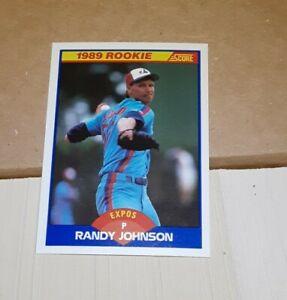 1989 Score Randy Johnson   DANG  NEAR  MINT 645 Rookie RC Montreal Expos