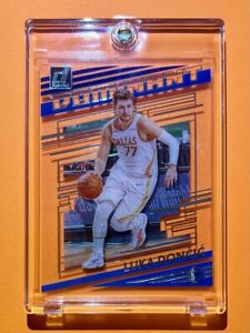 Luka Doncic DOMINANT CLEARLY DONRUSS BLUE ACETATE INSERT 2021 FRESH - Mint!