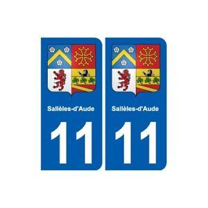 11 Sallèles-d-aude Blason Ville Autocollant Plaque Stickers - Angles : Arrondis Prix ModéRé