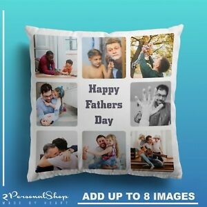 Personalised-Photo-Cushion-Pillowcase-Cover-Fathers-Day-Gifts-Dad-Daddy-9-Images