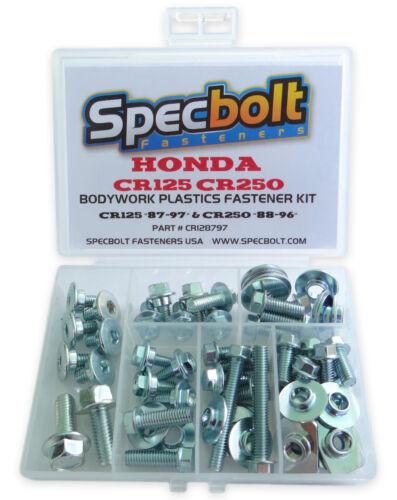 "All Plastics Bolt Kit Honda CR125 /""87-97/"" CR250 /""88-96/"" Bodywork /& Seat CR128797"