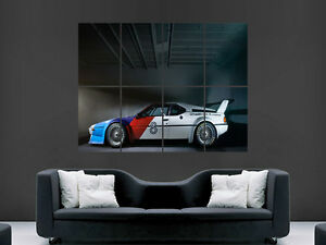 Image Is Loading BMW M1 CLASSIC SPORT CAR RACING ART HUGE