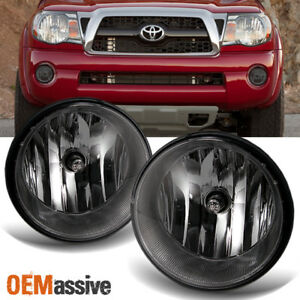 smoked fits 2005 2011 toyota tacoma bumper fog lights lamps w bulbimage is loading smoked fits 2005 2011 toyota tacoma bumper fog