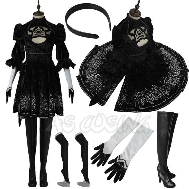 NieR Automata Heroine 2B YoRHa No 2 Type B Tights Corset Games Cosplay Costumes