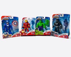 Marvel Super Hero Adventures Lot Iron Man Hulk Black Panther Captain America🔥🔥