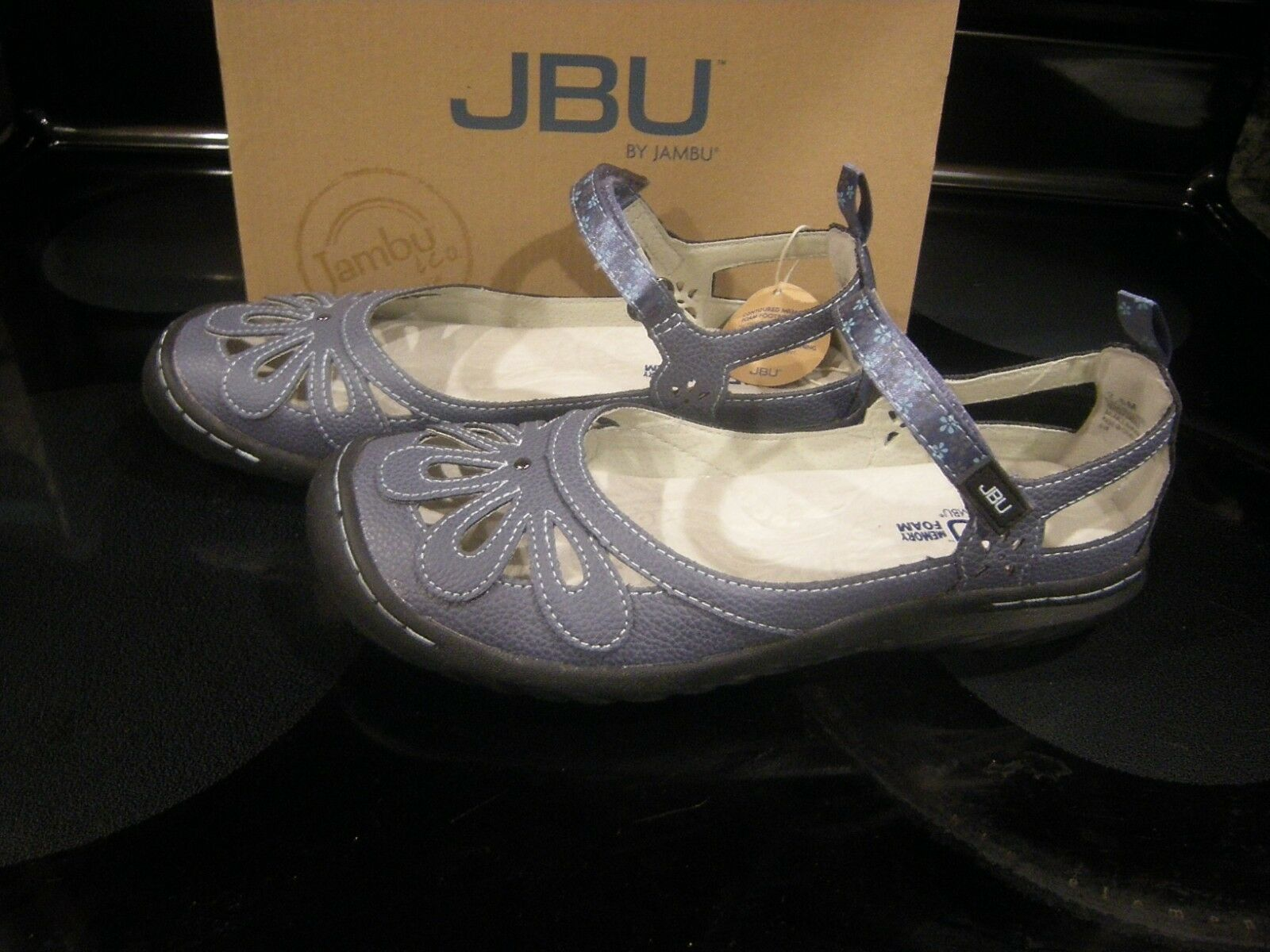 New Womens Denim JBU By Jambu Wildflower shoes, 7.5 M