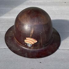 Vintage Ww2 Skullgard Type K Full Brim Safety Hard Hat Named To A Pvt Date 1942