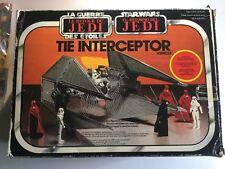 Star Wars Interceptor Tie Fighter Rotj Palitoy Boxed Mib Complete