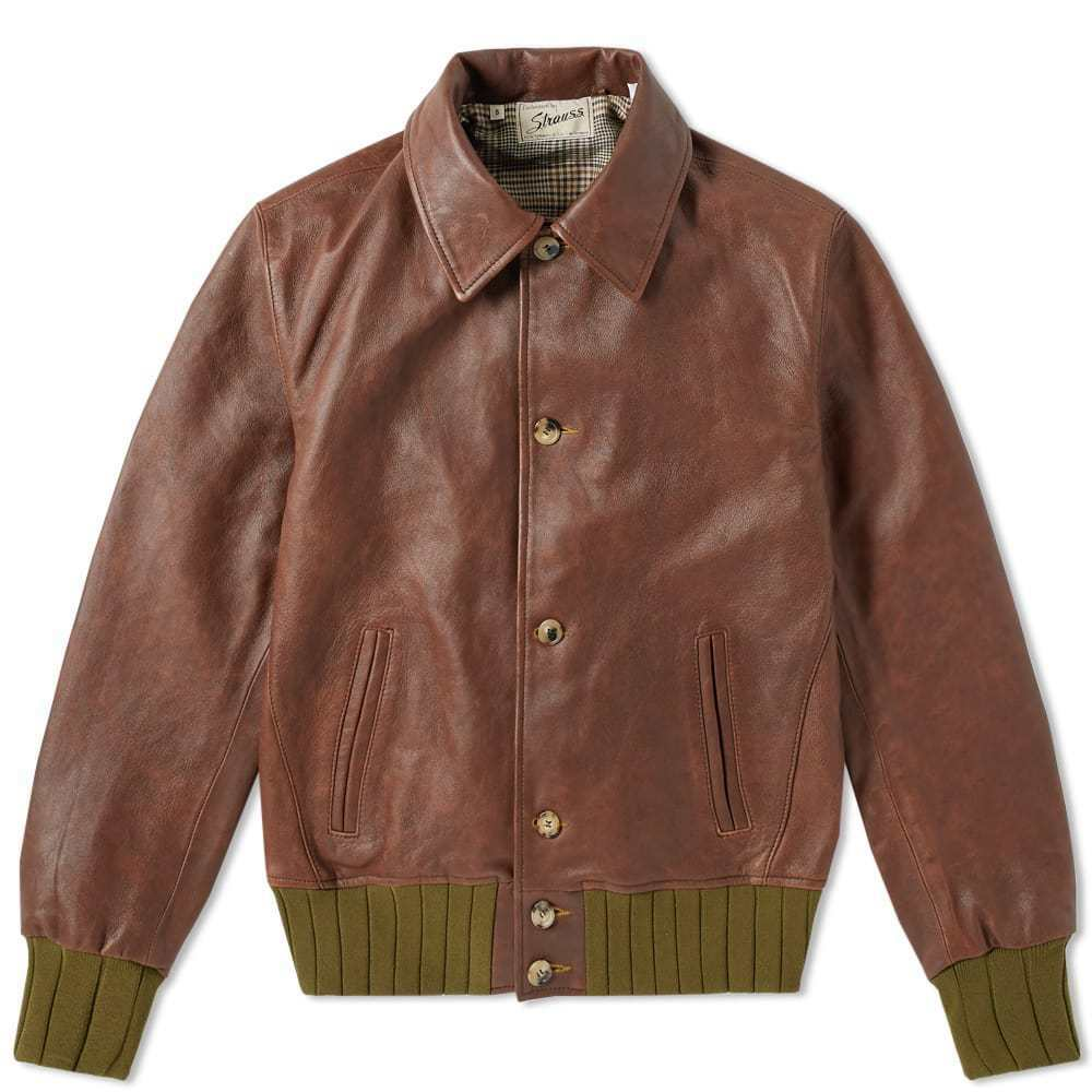 6b672e686 NWT Levi's Vintage Clothing LVC Strauss Leather Jacket (Made in Italy) RRP  $1500