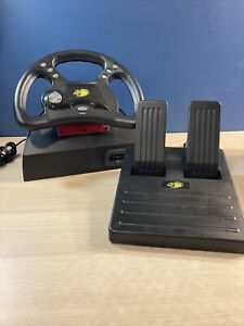 Mad Catz Analog Steering Wheel For Nintendo 64 W/ Foot Pedals For N64